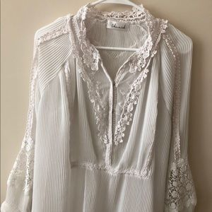 White blouse with beautiful lace details